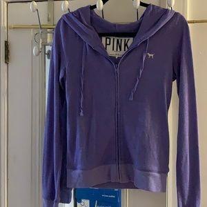 Purple zipper sweatshirt by Pink xs